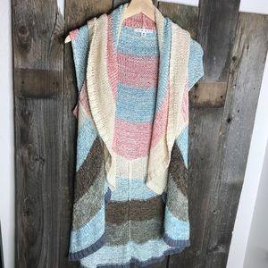 CAbi Striped Circle Cardigan Sweater
